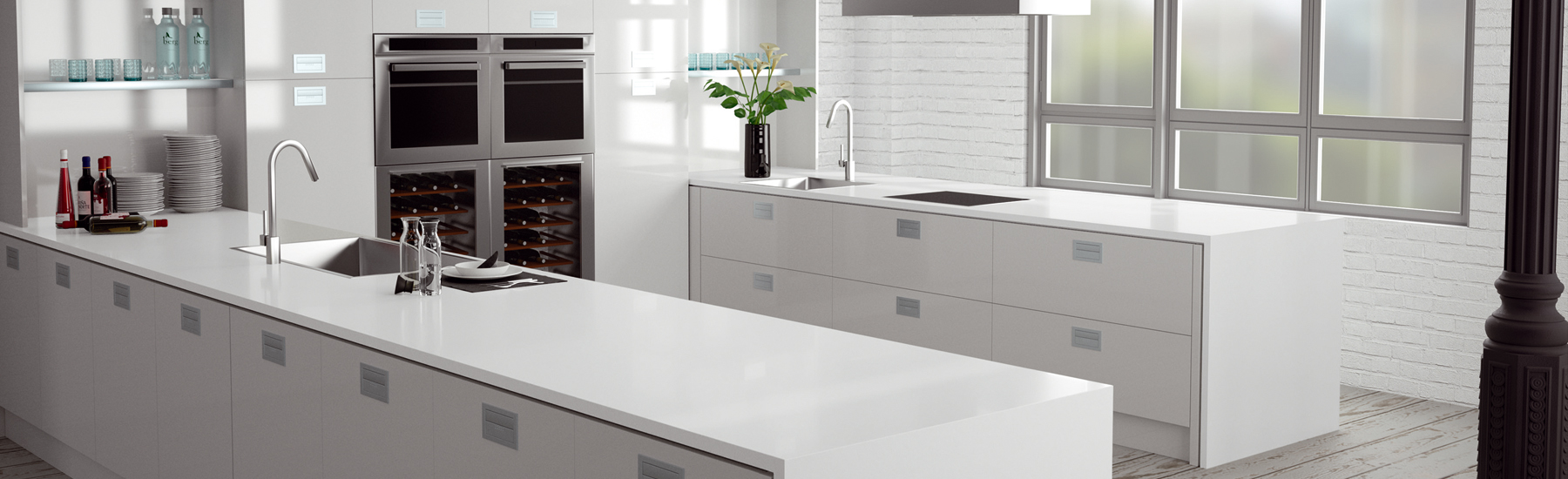 Absolute Blanc White Quartz Model 3