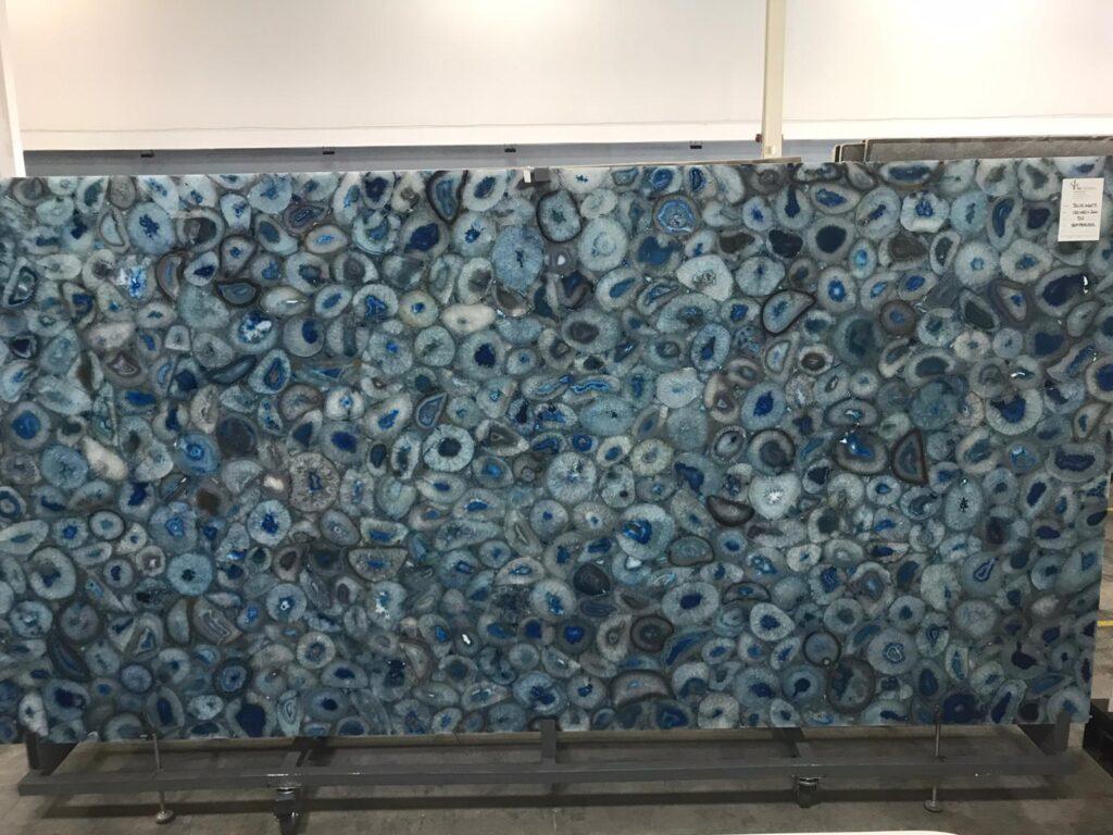 Agata Blue Semi Precious Slab
