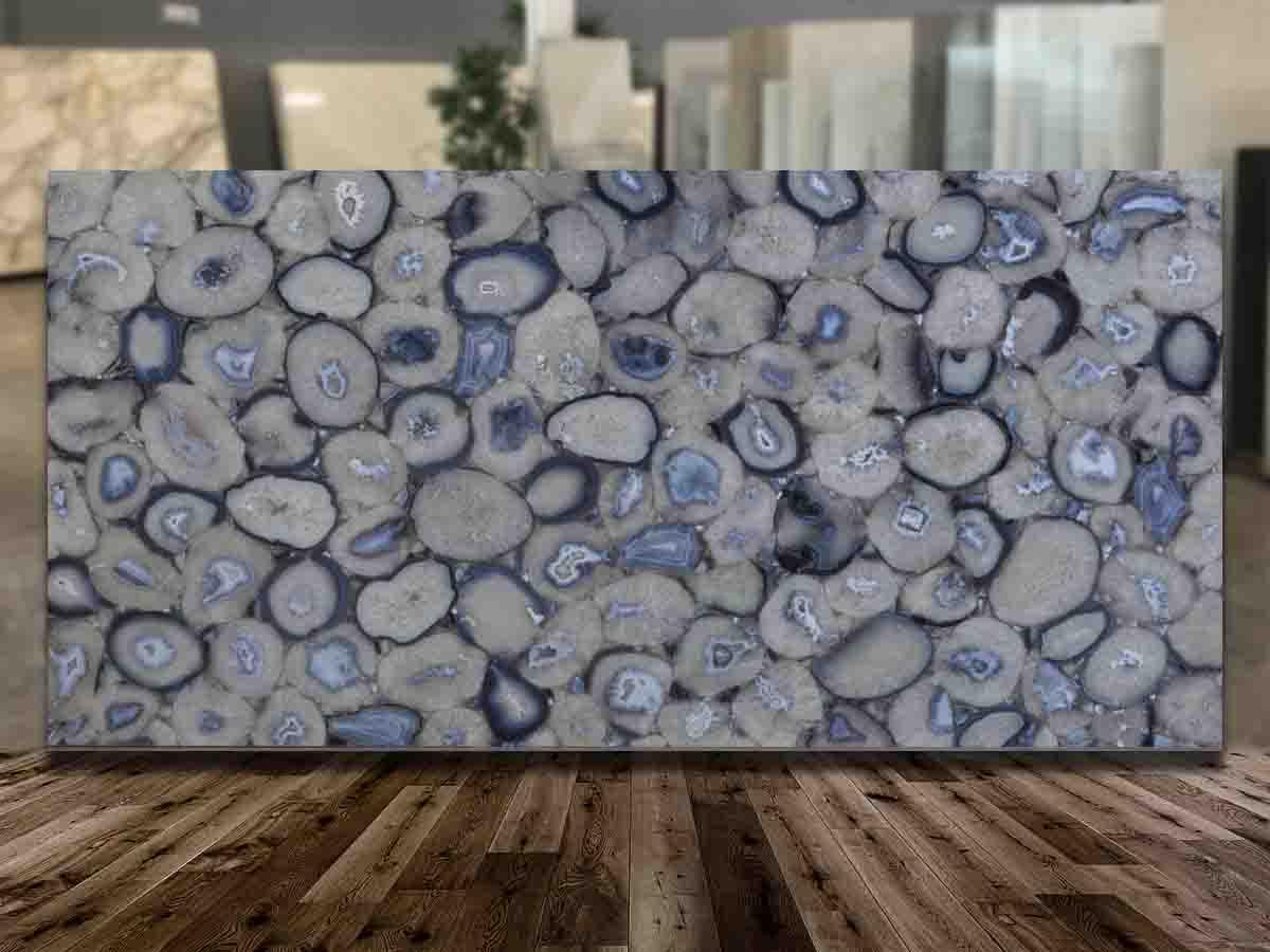 Agata Grey Semi Precious Stone